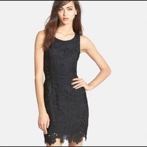 ASTR the label black lace floral dress s
